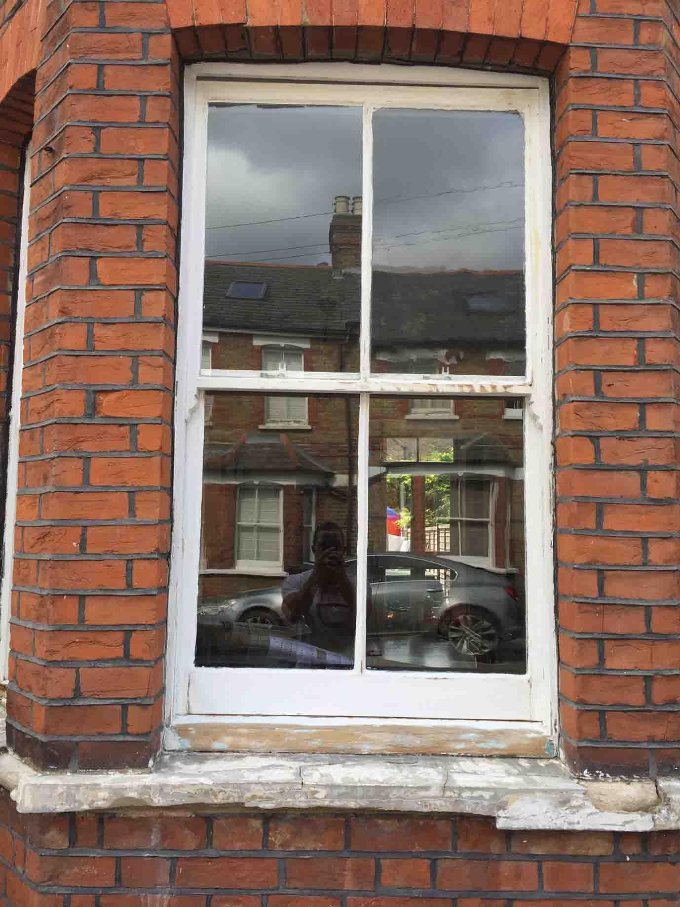 undecorated windowframe