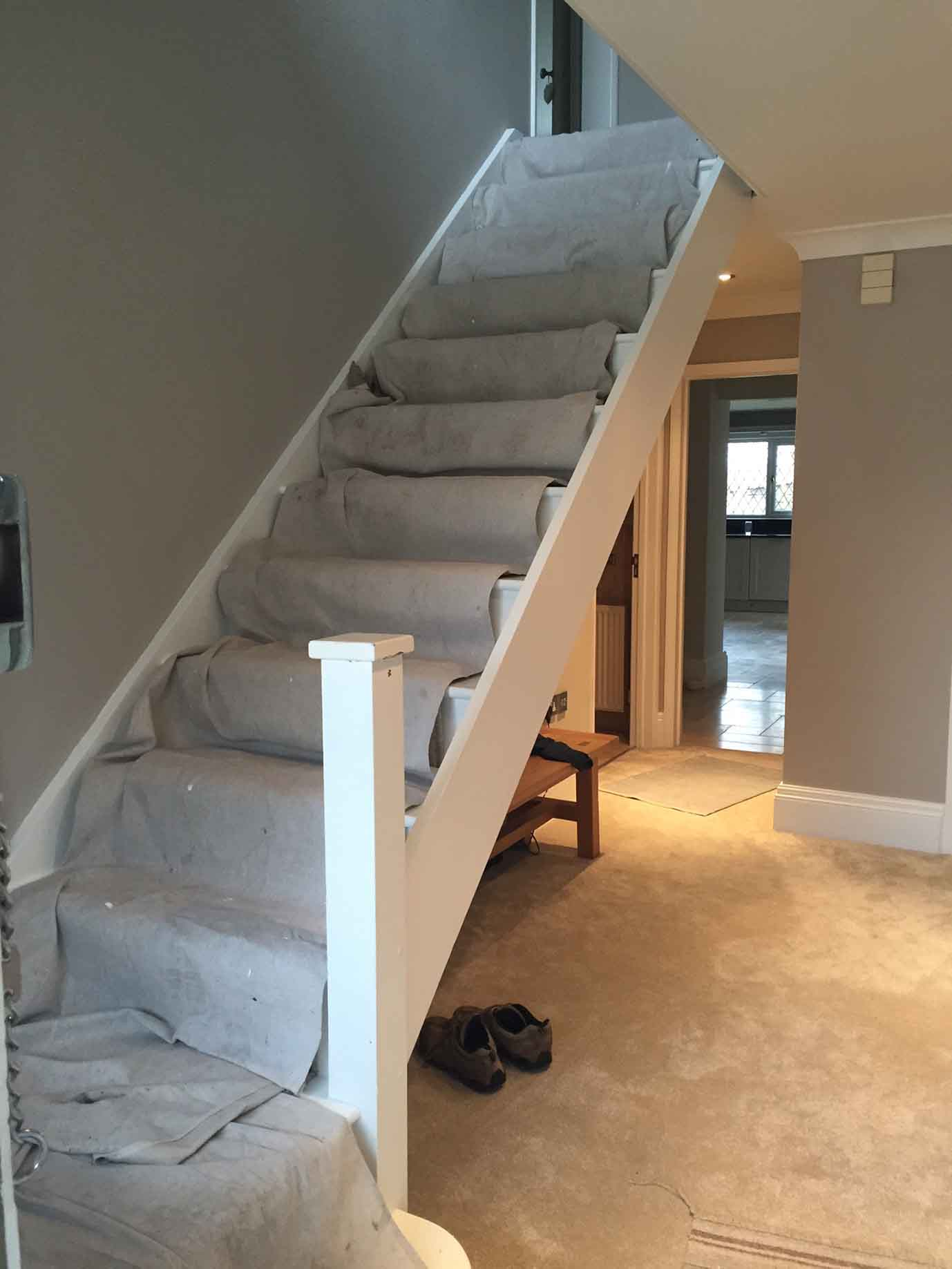 undecorated stairs